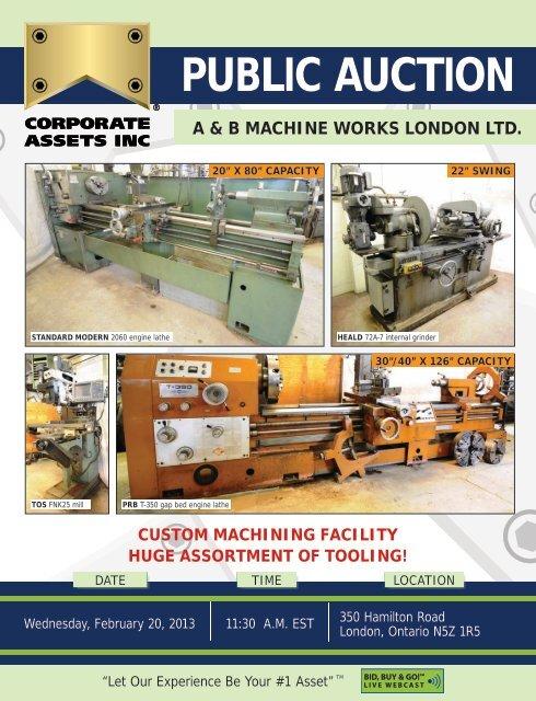 A B Machine Works London Ltd Corporate Assets Inc