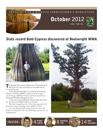 October, 2012 Newsletter - Kentucky Department of Fish and Wildlife ...