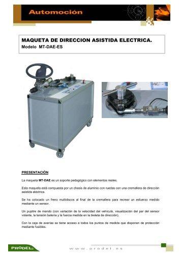 MAQUETA DE DIRECCION ASISTIDA ELECTRICA.