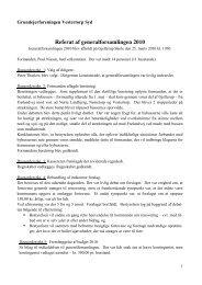 Referat vedr. 2009 - Grundejerforeningen Vestertorp Syd