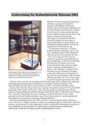 Årsberetning for Kulturhistorisk Museum 2002 - Randers Kommune