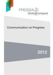 FN's Global Compact - Communication on Progress ... - Pressalit A/S