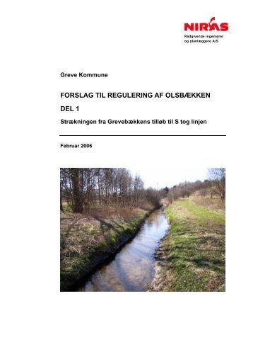 forslag til regulering af olsbækken del 1 - Greve Kommune