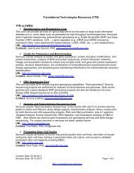 TTR Sub-Core Summary