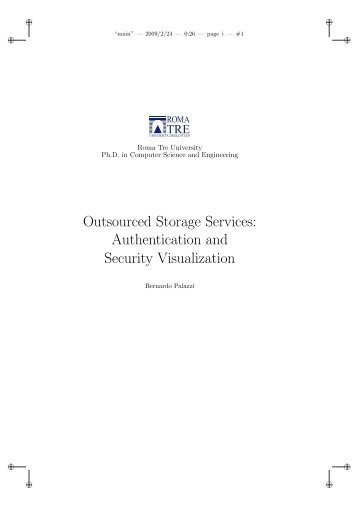 Outsourced Storage Services: Authentication and Security ...