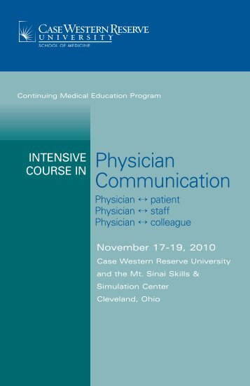 Physician Communication - Case Western Reserve University ...