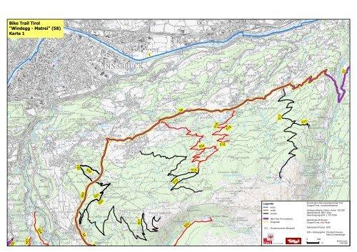 Karte Tirol.Bike Trail Tirol Windegg Matrei 58 Karte 1