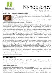 Nyhedsbrev nr. 18, november 2011 - Gb-foreningen