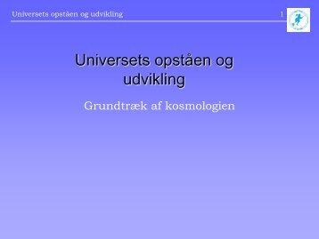 1. Er universet skabt for vores skyld
