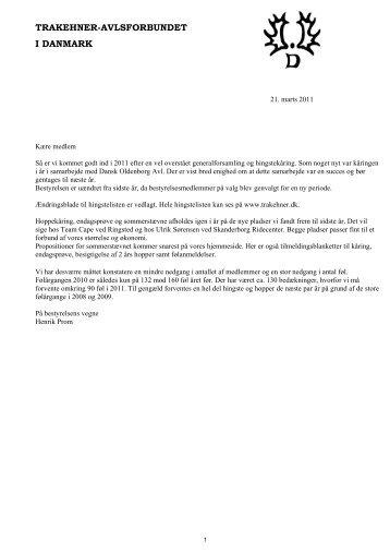 Årsskrift 2010 - Trakehner Avlsforbundet i Danmark