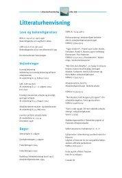 Litteraturliste, stikordsregister (pdf - 40Kb) - Fiskericirklen