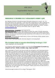 ASK 2013 01 med generalforsamlingsindkaldelse - Sagnlandet Lejre