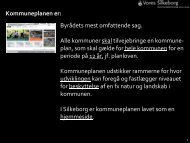 Se kommunens præsentation (pdf) - Kommuneplan - Silkeborg
