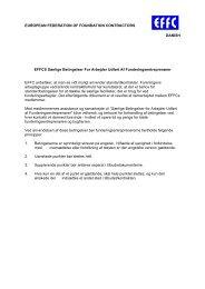Særlige Betingelser For Arbejder Udført Af ... - EFFC