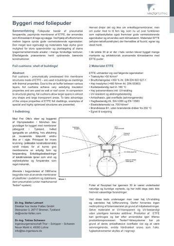 Byggeri med foliepuder - Vector Foiltec