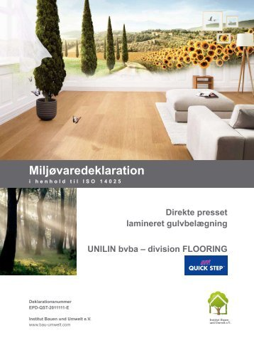 LaminateFloor miljødeklaration_juli12