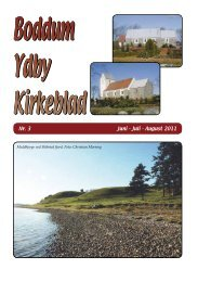Kirkeblad nr. 3, 2011 - Boddum og Ydby kirker