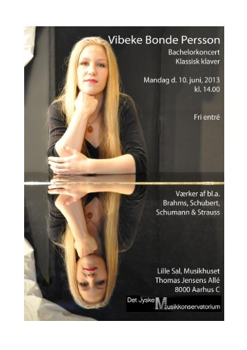 Vibeke Bonde Persson, klaver, BA - musikkons.dk