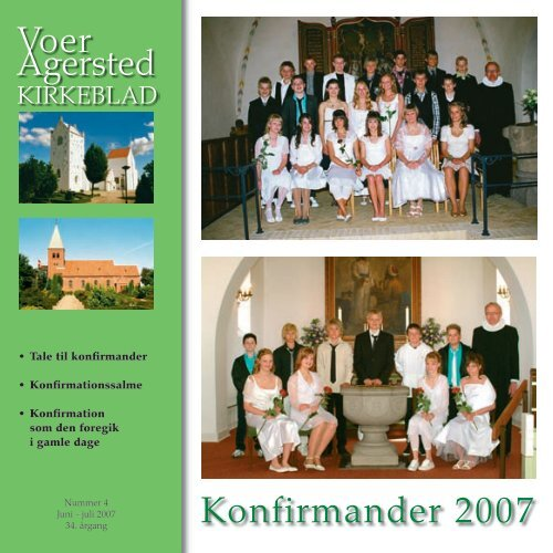 Konfirmander 2007 - Voer og Agersted Sogne