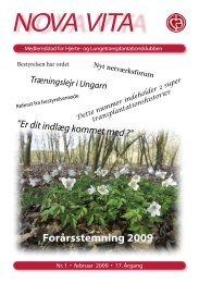 Nova Vita 2009-1 - Hjerte- og Lungetransplantationsklubben