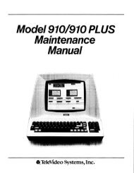 Maintenance Manual - Bitsavers