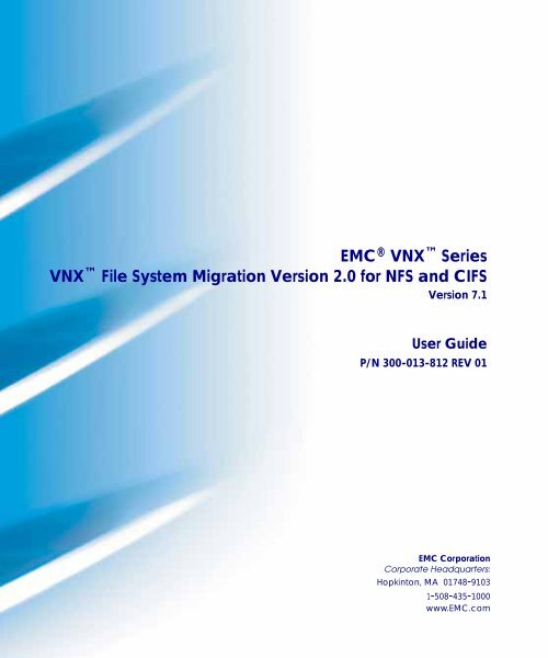 Array - vnx file system migration version 2 0 for nfs and cifs   emc  rh   yumpu com
