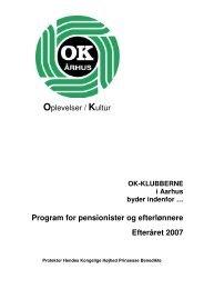 Efterårsprogrammet 2007 - OK-Klubberne-Aarhus