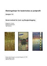 Retningslinjer for beskrivelse av jordprofil - Skog og landskap