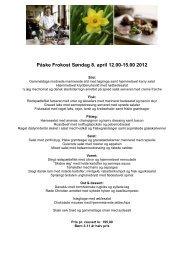 Påske buffet 2008 - Hotel Rebild Bakker
