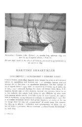 iARITIME SMÅARTIKLER - Handels- og Søfartsmuseet