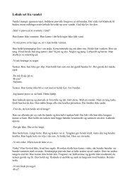 Lohals Set fra vandet – novelle