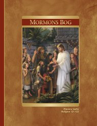 Mormons Bog – Elevens hæfte (Religion 121-122) - The Church of ...