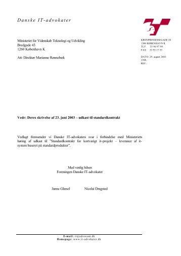 Danske IT-Advokaters høringssvar