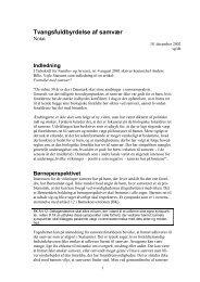 Fogedforretninger i sager om børn og samvær - Børnerådet