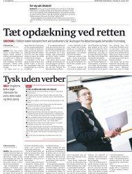 Artikel i Nordjyske om Tysk tirsdag 2011 - Tysklandsstudier på AAU
