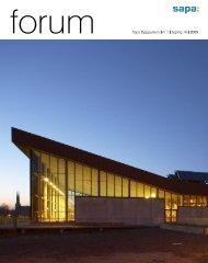 forum Sapa Byggsystem nr 1 årgång 18 2005 - Sapa Group