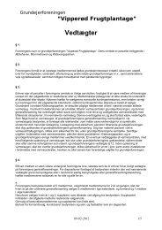Vedtægter (pdf) - Grundejerforeningen Vipperød Frugtplantage