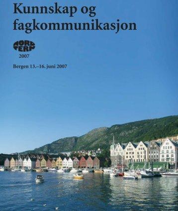 Kunnskap og fagkommunikasjon - Nordterm