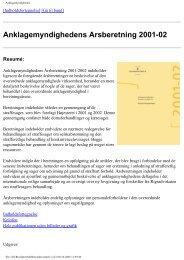 Anklagemyndighedens årsberetning 2001-02 - Rigsadvokaten