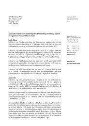 DM Revision A/S Att.: Merete Leth Ulstrupvej 10 4682 Tureby ...