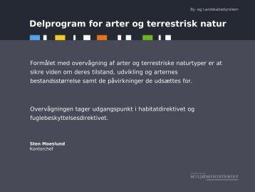 Delprogram for arter og terrestrisk natur - Naturstyrelsen