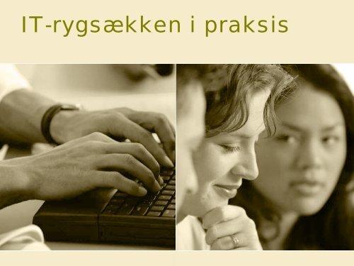 IT-rygsækken i praksis - Hjælpemidler