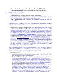 Dagsorden til ordinær generalforsamling den 25. marts 2007 kl. 13 ...