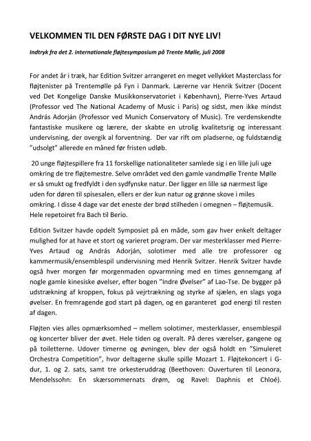 VELKOMMEN TIL DEN FØRSTE DAG I DIT NYE LIV! - Edition Svitzer