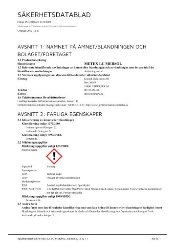 METEX LC MERSOL - Konrad Wahlström