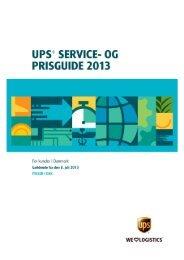 UPS® SERVICE- OG PRISGUIDE 2013 - UPS.com