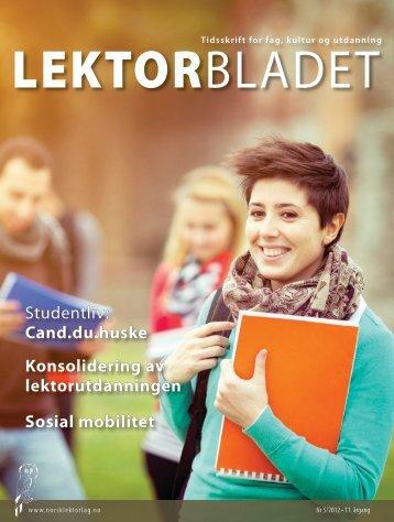 Cand.du.huske Sosial mobilitet - Norsk Lektorlag