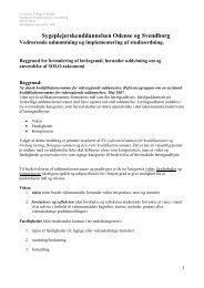 Baggrund for formulering af læringsmål - University College Lillebælt