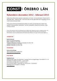 Nyhetsbrev december 2012 – februari 2013 - Konst i Örebro län