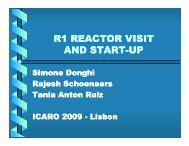 R1 REACTOR VISIT AND START AND START-UP